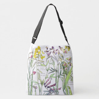 Botanical Peas & Vetch Flowers Tote Bag