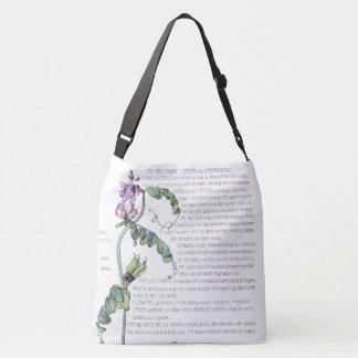 Botanical Peas & Vetch Flowers Tote Bag