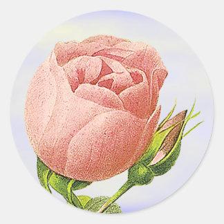 Botanical Pink Rosebud Sticker