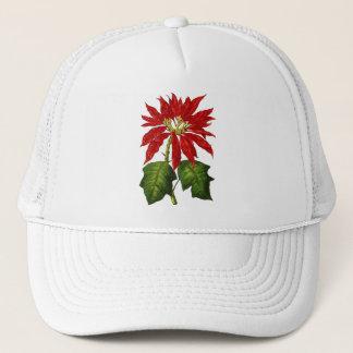 Botanical Poinsettia Cap