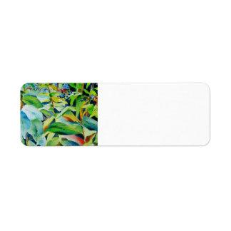 Botanical Return Address Label