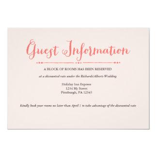 Botanical Romance Wedding Information Card 13 Cm X 18 Cm Invitation Card
