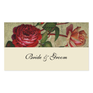 Botanical Rose French Place Cards Double-Sided Standard Business Cards (Pack Of 100)