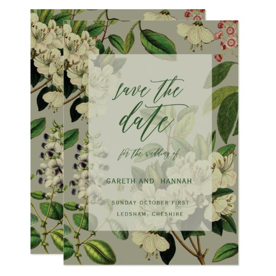 BOTANICAL-SAVE THE DATE CARD