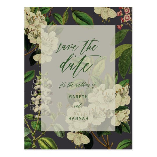 BOTANICAL-SAVE THE DATE POSTCARD