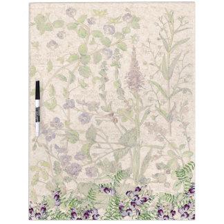 Botanical Speedwell Flowers Dry Erase Board