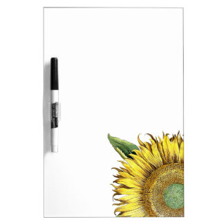 Botanical Sunflower Flower Dry Erase Board