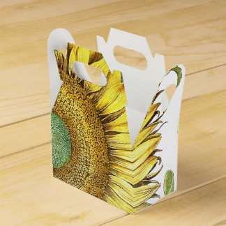 Botanical Sunflower Flowers Floral Favor Box Wedding Favour Boxes