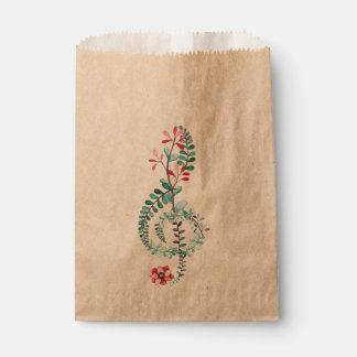 Botanical Treble Clef Favour Bags