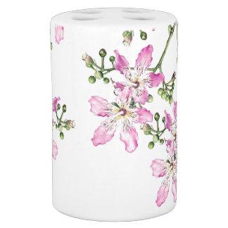 Botanical Tropical Pink Silk Floss Flower Bath Set