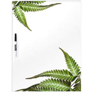 Botanical Vintage Ferns Leaves Dry Erase Board