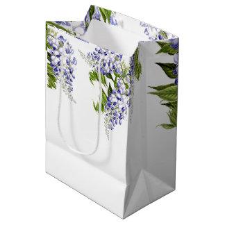 Botanical Vintage Wisteria Flowers Floral Gift Bag