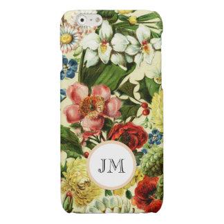 Botanical wildflower summer garden monogram iPhone 6 plus case