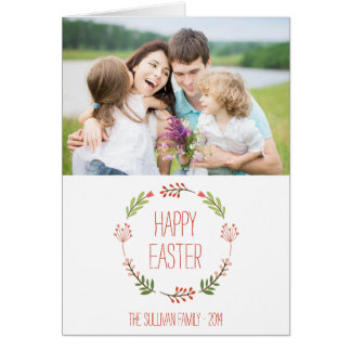 Botanical Wreath | Happy Easter Card