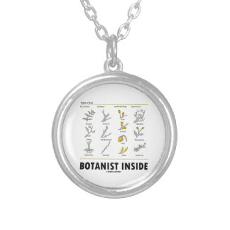 Botanist Inside (Different Types Of Buds) Round Pendant Necklace