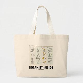 Botanist Inside (Types Of Buds) Jumbo Tote Bag