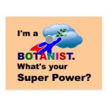 Botanist Superhero custom design Postcard