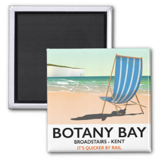 Botany Bay Broadstairs Kent beach holiday poster Square Magnet