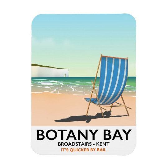 Botany Bay, Broadstairs Kent beach travel poster Magnet