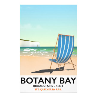Botany Bay, Broadstairs Kent beach travel poster Stationery