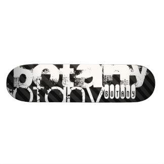Botany; Black & Dark Gray Stripes Skate Boards