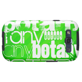 Botany; Neon Green Stripes Galaxy S3 Cover