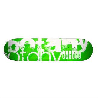 Botany; Neon Green Stripes Skate Board Decks