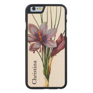 Botany: Saffron Carved Maple iPhone 6 Case