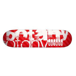 Botany; Scarlet Red Stripes 21.6 Cm Skateboard Deck