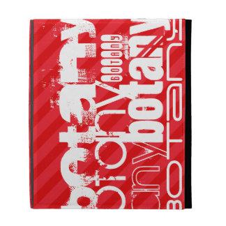 Botany; Scarlet Red Stripes iPad Folio Covers