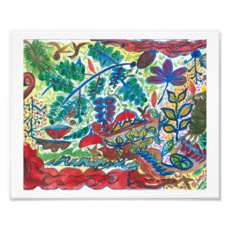 """Botany Symbols"", is a print of my painting. Photo Art"