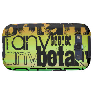 Botany; Vibrant Green, Orange, & Yellow Samsung Galaxy S3 Cases