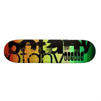 Botany; Vibrant Green, Orange, & Yellow Custom Skate Board
