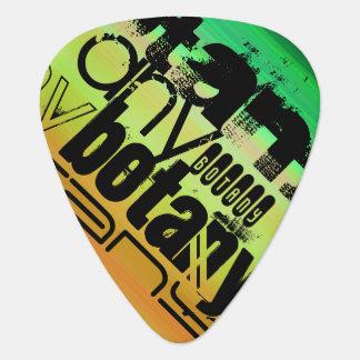 Botany; Vibrant Green, Orange, & Yellow Guitar Pick