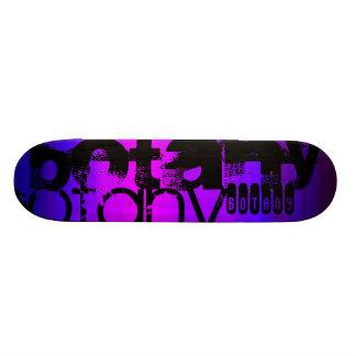 Botany; Vibrant Violet Blue and Magenta 20.6 Cm Skateboard Deck