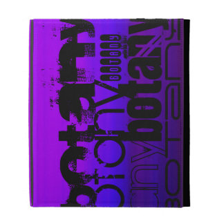 Botany; Vibrant Violet Blue and Magenta iPad Folio Cases