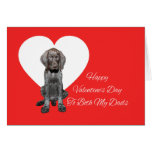 Both Dads Glossy Grizzly Valentine Puppy Love Greeting Card