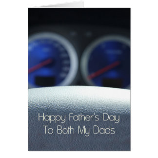 Both Dads Happy Father's Day Card