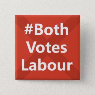 #Both Votes Labour Party Logo 15 Cm Square Badge