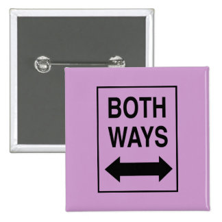 Both Ways 15 Cm Square Badge