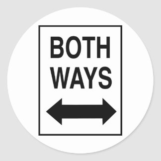 Both Ways Stickers
