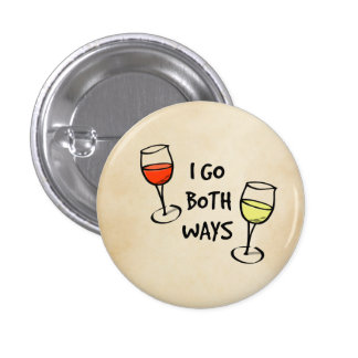 Both Ways Wine Glasses 3 Cm Round Badge