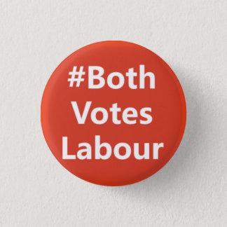 #BothVotesLabour Labour Party Logo 3 Cm Round Badge