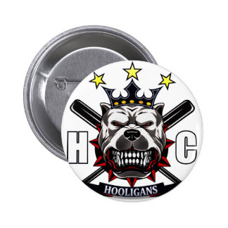 boton hooligans 6 cm round badge