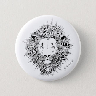 Bóton Lion 6 Cm Round Badge