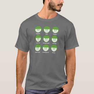 Botox Green Print Dark Basic T-shirt