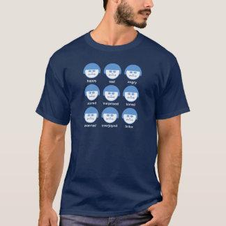 Botox SkyBlue Print Dark Basic T-shirt