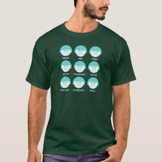 Botox Turquoise Print Dark Basic T-shirt