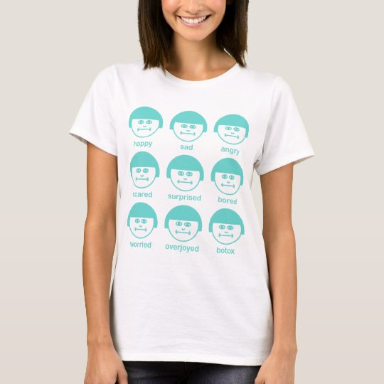 Botox Turquoise Print Women's Fitted T-shirt