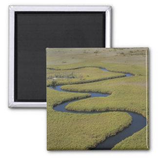 Botswana, Africa. Arial view Okavango river. Magnet